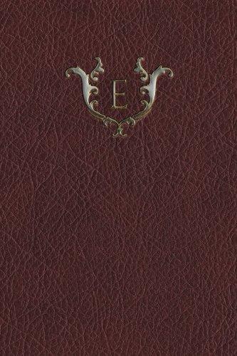 "Monogram ""E"" Any Day Planner Journal (Monogram Red 365 Planner) (Volume 5) pdf epub"