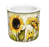 CounterArt 2-Piece Sunflowers in Bloom Ceramic Dip Chiller