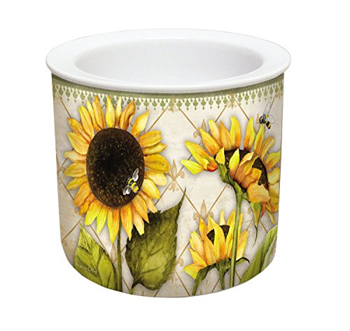 CounterArt 2-Piece Sunflowers in Bloom Ceramic Dip Chiller ()