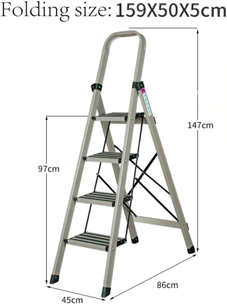 KJZ Escalera decorativa, escalera de tres escalones de la cocina Escalera multifuncional plegable de metal (Color : Light green, Tamaño : 45 * 86 * 147CM): Amazon.es: Bricolaje y herramientas