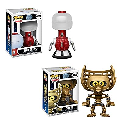 Funko Pop Television Mystery Science Theater 3000 Crow #488, Tom Servo #489 Vinyl Figures SET: Toys & Games