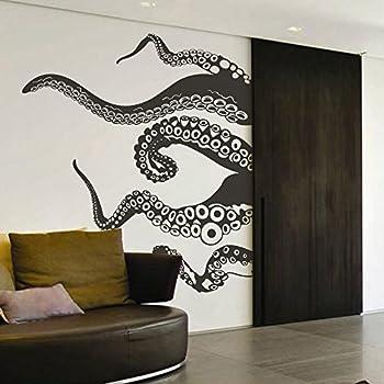 Tentacles Wall Decal Kraken Octopus Tentacles Wall Sticker Sea Animal Wall  Decal Mural Home Art Decor