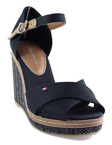 sports shoes 0f04c be708 Tommy Hilfiger - Keilsandalette | Elena 4D | schwarz: Amazon ...