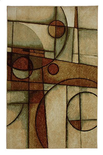 Mohawk Home New Wave Mythology Neutral Geometric Printed Area Rug, 5'x7', Multicolor - Green Brown New Wave
