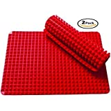 Wolecok Baking Mats Non-Stick Silicone Pyramid Pan Oven Tray Baking Sheet Pastry Cooking Mat 2 Pack