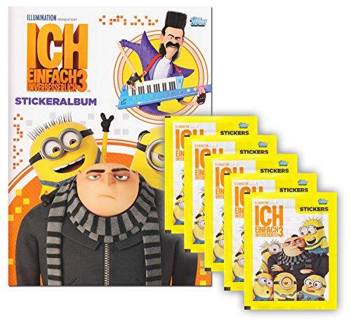 Minions 3 Topps–GRU–Mi Villano Favorito 3–Minions película Juego paquetito álbum + 5Booster–25cromos Edición Alemana
