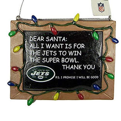 New York Jets Resin Chalkboard Sign Ornament
