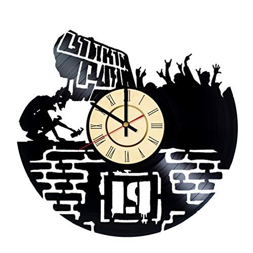 Clock Bennington (Linkin Park Vinyl Clock Gift Chester Bennington Fans LP Wall Decor Rock Band Art Rap Rock Music Living Room Artwork)