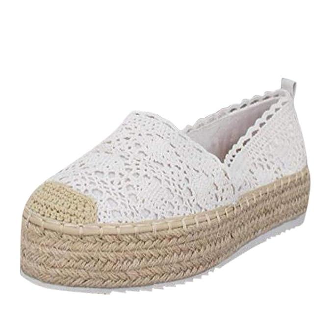 e8e782ae18fa9 Amazon.com: ❤ Mealeaf ❤ Women's Hollow Platform Casual Shoes ...