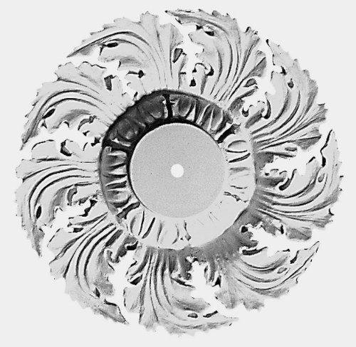 Focal Point 83715 15 Inch D'Evereux Center Medallion 14 3/4-Inch Diameter by 2 7/8-Inch, Primed White Polyurethane