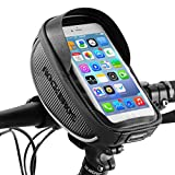 ROCK BROS Bike Phone Bag Bicycle Phone Mount Bag Waterproof Handlebar Bike Phone Case Holder Sensitive Touch Screen Phone Compatible with iPhone X XS Max XR 8 7 Plus Below 6.5'