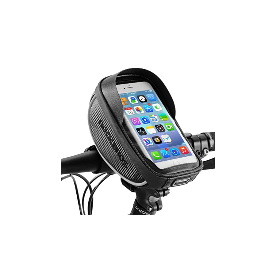 RockBros Bike Phone Bag Waterproof Handlebar Bicycle Phone Case Sensitive Phone Mount Bag Holder For iPhone X 8 7 Plus 6s Below 6.0""