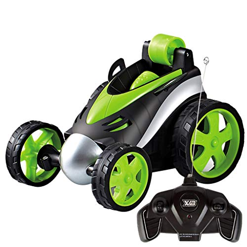 Toys, Kids 360° Spinning Remote Control Racing Cars Flip Car Toys for Kids (Green 2) ()