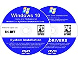 Kyпить Windows 10 64-BIT Reinstall Install DVD Home and Professional - 2017 Driver DVD Included - 2 Disc Installation Kit на Amazon.com