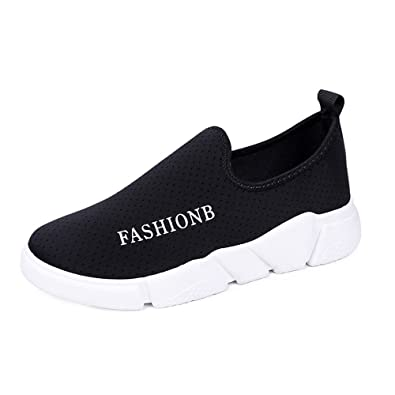 096a33cf325c Women s Mesh Slip on Water Shoes Lightweight Quick Drying Walking Shoe  Athletic Sport Beach(Black