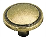 Amerock BP3443-BB Traditional Classics Knob Harmony Burnished Brass, 1-3/16-Inch Diameter
