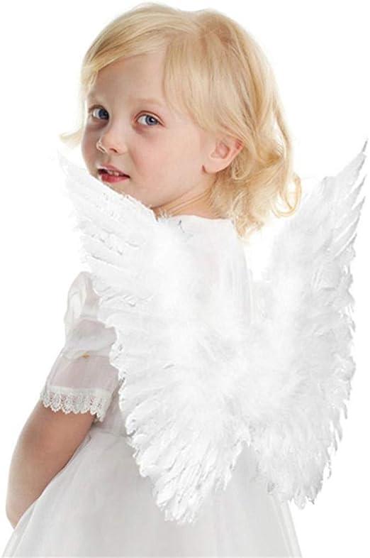 GOMYIE - Disfraz de alas de ángel de mariposa blanca unisex ...