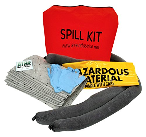 AIRE Industrial 942-006461 Spill Kit Universal Economy Portable, 5 gal, 4'' Height, 14'' Wide, 17'' Length, PVC, 14'' x 17'' x 4'', Orange PVC by AIRE INDUSTRIAL