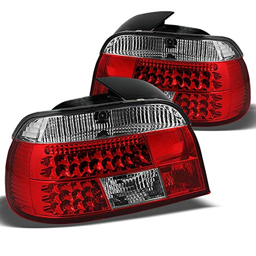 Xtune for 1997-2000 BMW E39 5-Series LED Tail Lights Lamps Rear Brake Tail Lights Pair Left+Right 1998 1999