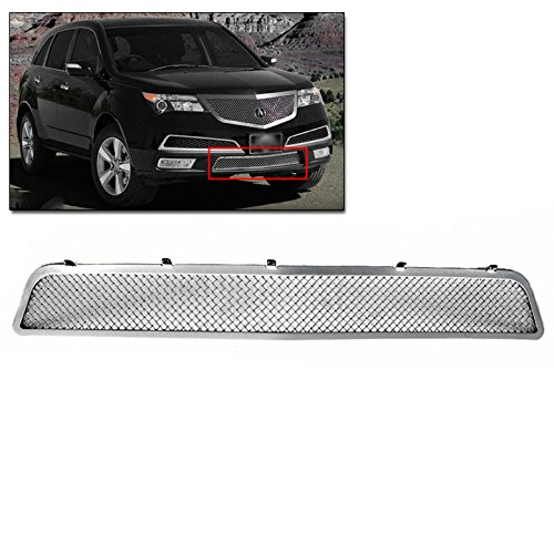 ZMAUTOPARTS Acura Mdx Bumper Lower Stainless Steel Mesh Grille Grill Chrome BoltOver