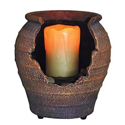 OK LIGHTING FT-1143/1L LED Candle Fountain (6.75-inch high): Home Improvement
