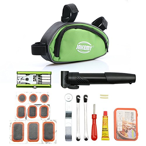 Tekit All in one Professional Bicycle Bike Cycling Repair Tools set Cycle Maintenance Kits Set with Pouch Pump,Used in bicycle repairing and tyre repairing