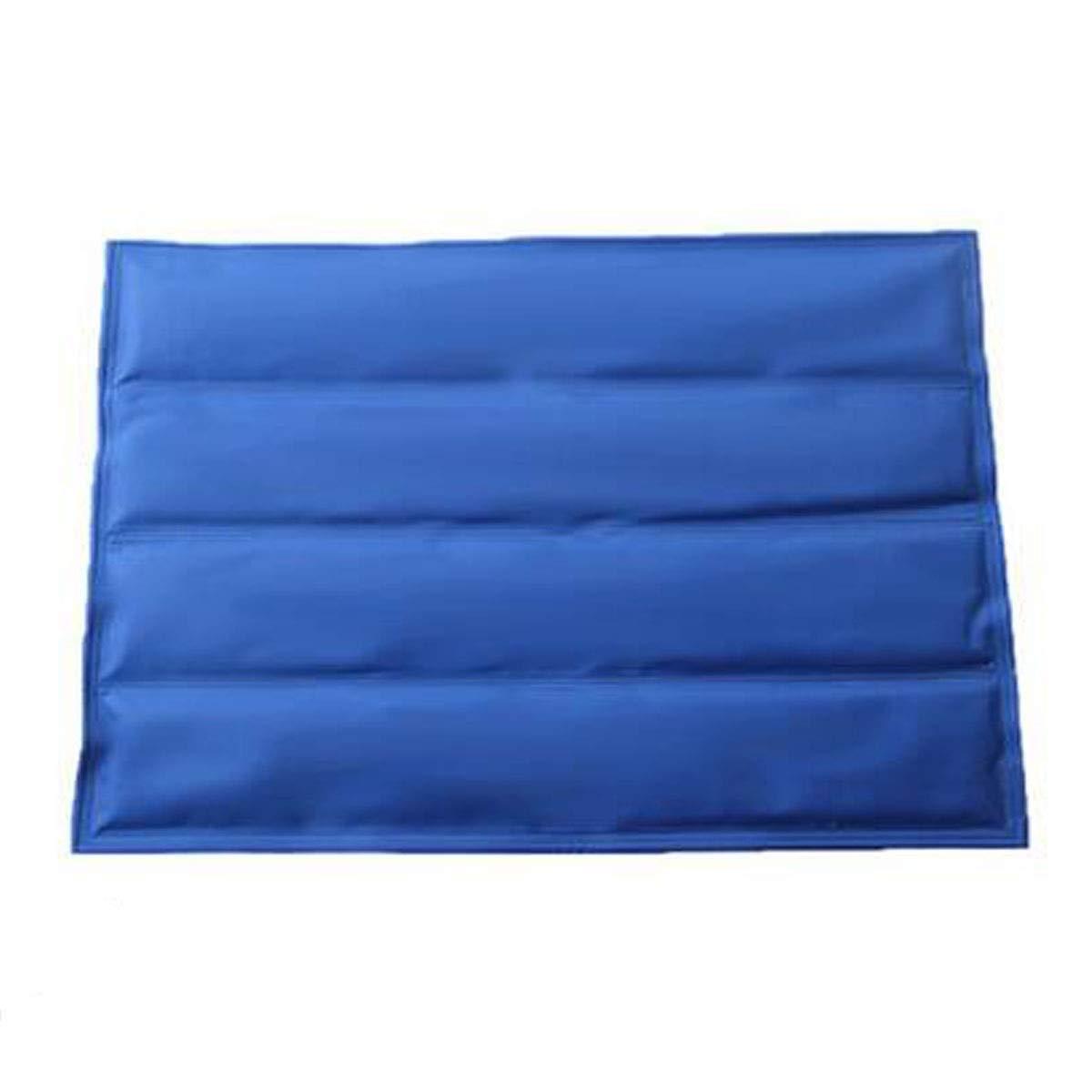 bluee XXL bluee XXL Jiansheng Dog Bed, Dog Cooling Bed, Used For Big Dog Ice Pad, Ultra-thin Cooling Artifact For Sofa Floor Car Sleeping Pad Foldable, color bluee XXL (color   bluee, Size   XXL)
