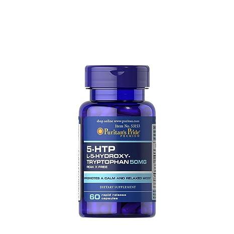 TRIPTOFANO 5 htp (HidroxiTriptofano) 50 mgrs 60 cps Serotonina --/ Ansiedad /