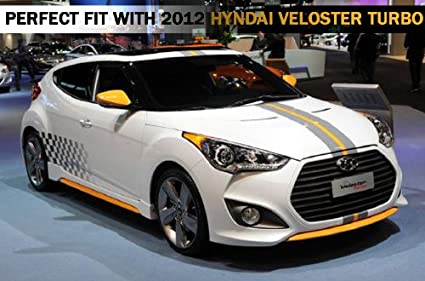 Amazon.com: SEQUENCE Rear Fender Bumper Lip UNPAINTED 2-pc Set For 2012 2013 Hyundai Veloster Turbo: Automotive
