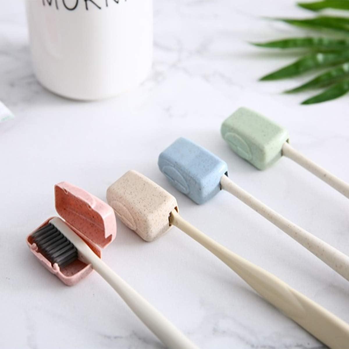colorida Funda protectora para cepillo de dientes antipolvo 12 piezas KongJies funda protectora antibacteriana 3,5 x 1,5 x 2 cm