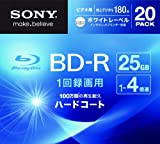 Sony Blu-ray Disc | BD-R 25GB 4x - Ink-jet Printable 20 Pack | 20BNR1VGPS4 (Japanese Import)