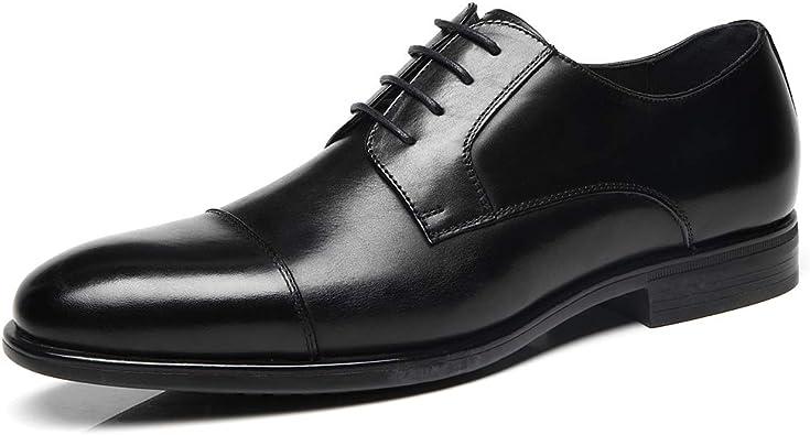 black oxford toe cap shoes
