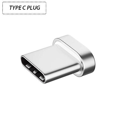 Coomir Micro USB/Tipo-C / 8 Pin Plug Adaptador magnético de Carga para iPhone Android Phones Tablets PC