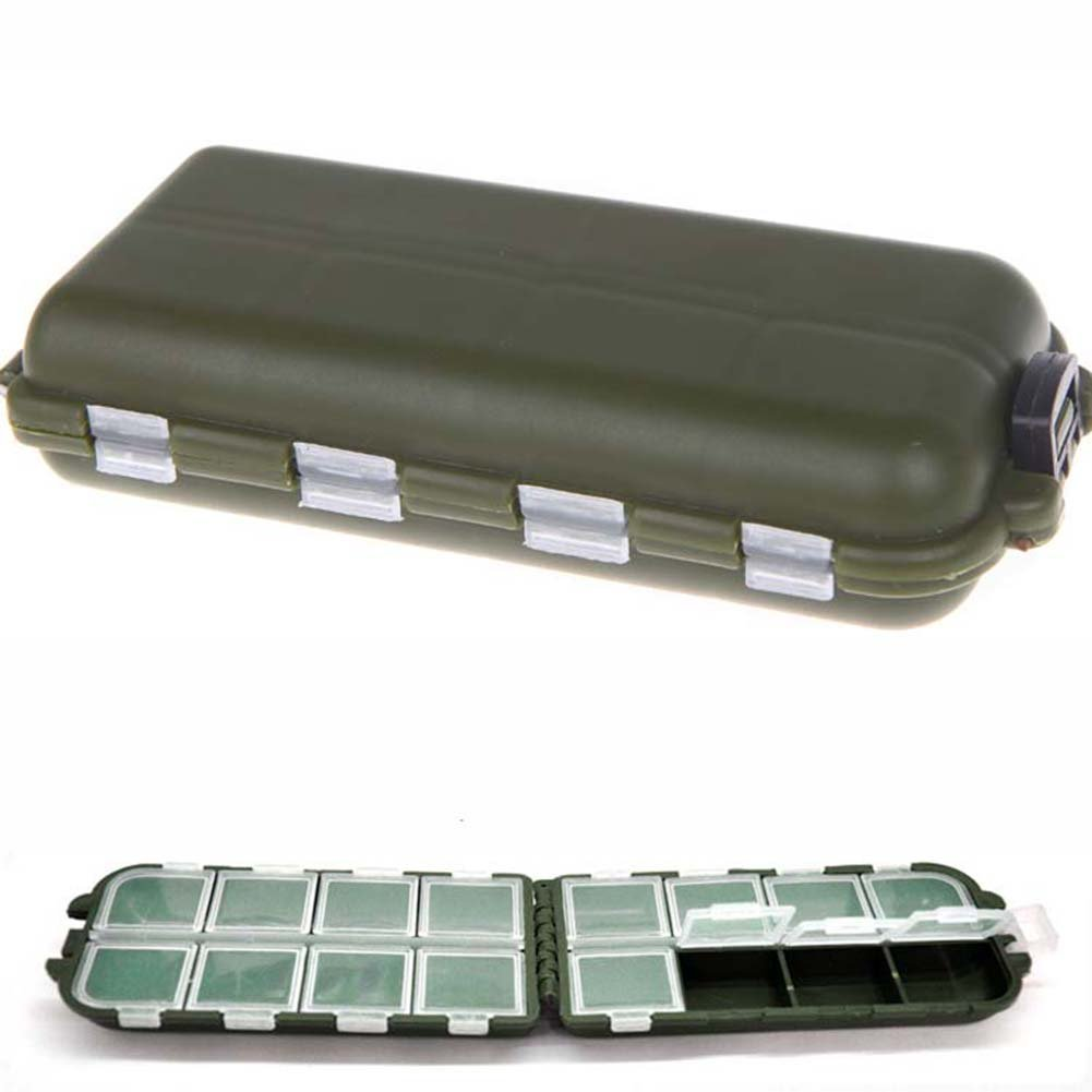 Compartments Storage Case Box Fly Fishing Lure Spoon Hook Bait CA