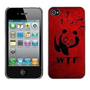 Be Good Phone Accessory // Dura Cáscara cubierta Protectora Caso Carcasa Funda de Protección para Apple Iphone 4 / 4S // Funny WTF Panda
