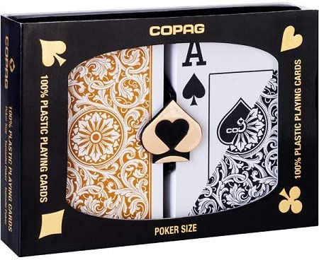 Desjgn Poker Jumbo Black Gold 100/% Plastic Playing Cards NEW J Design