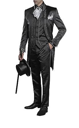 spätester Verkauf Exklusive Angebote Neu werden Suit Me Glitz Lang Herren Anzug 3 Teiler Sakko Hose Weste ...