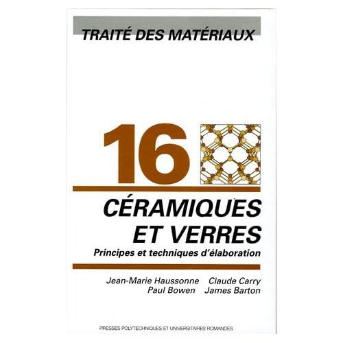 'traite des materiaux t.16 ; ceramiques et verres'