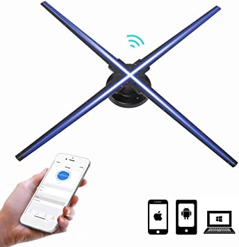 Tosuny Proyector Holográfico 3D, 1024 * 1024 HD Wi-Fi Ventilador ...