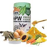 Exotic Nutrition Sugar Glider HPW Diet Fruit & Veggie 12 oz. Jar - High Protein Healthy Natural No Mess Food for Sugar Gliders - High Protein Wombaroo Diet