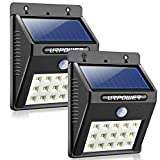 URPOWER 8 LED Solar Wireless Waterproof Motion Sensor Outdoor Light, 4 Pack
