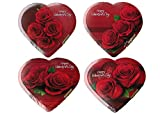 Valentine Rose Heart Shaped Chocolate Gift Box 2 oz (Pack of 10)