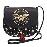Wonder Woman W Logo Handbag Saddlebag With Tassel