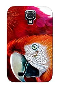 WdEjrnl147nIxMF With Unique Design Galaxy S4 Durable Tpu Case Cover Scarlet Macaw by lolosakes