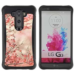 Híbridos estuche rígido plástico de protección con soporte para el LG G3 2014 Smart Phone - cherry blossoms pink Japan Tokyo