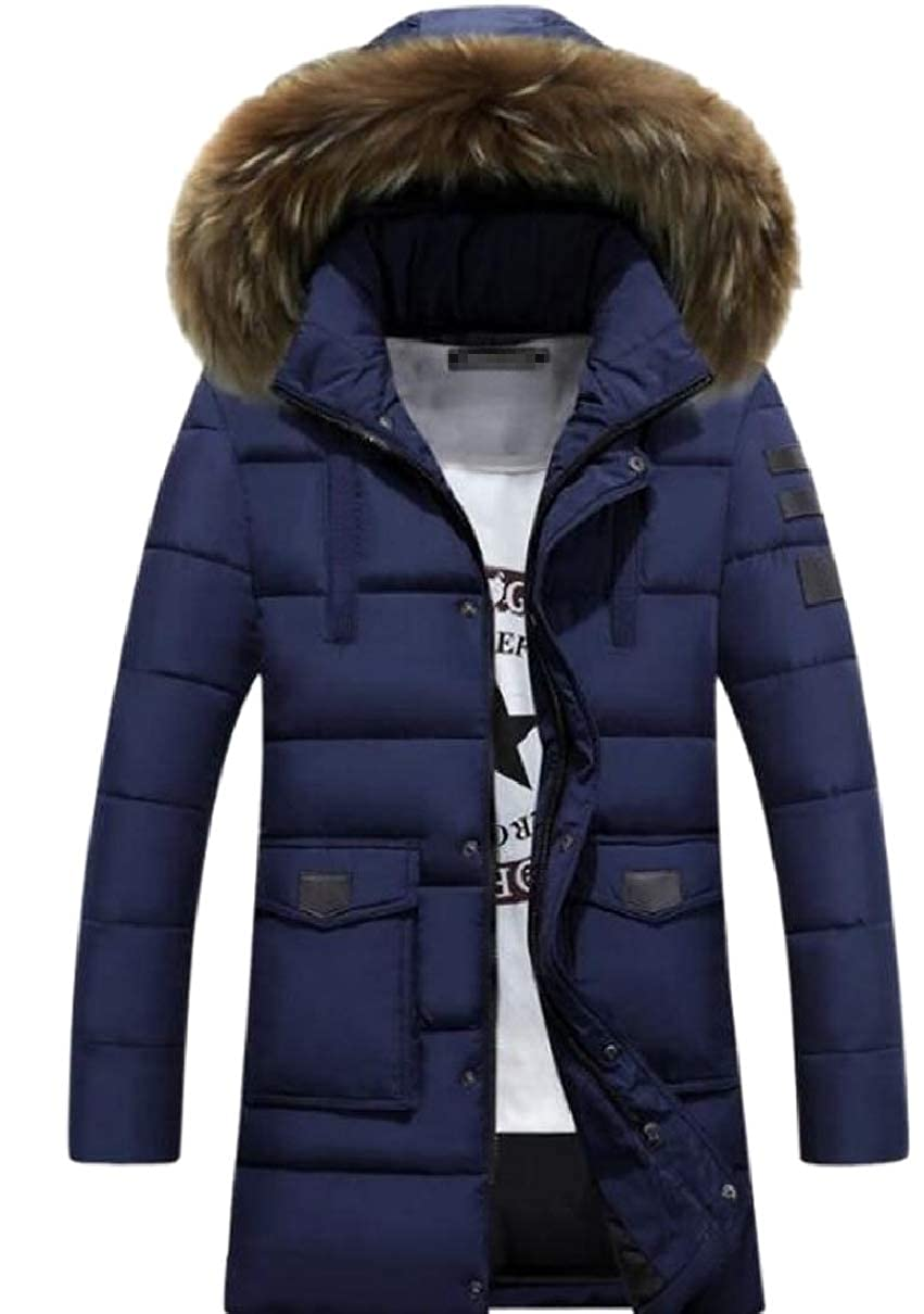 CBTLVSN Mens Curved-Hem Long Jacket Trenchcoat Single Breasted Top Coat