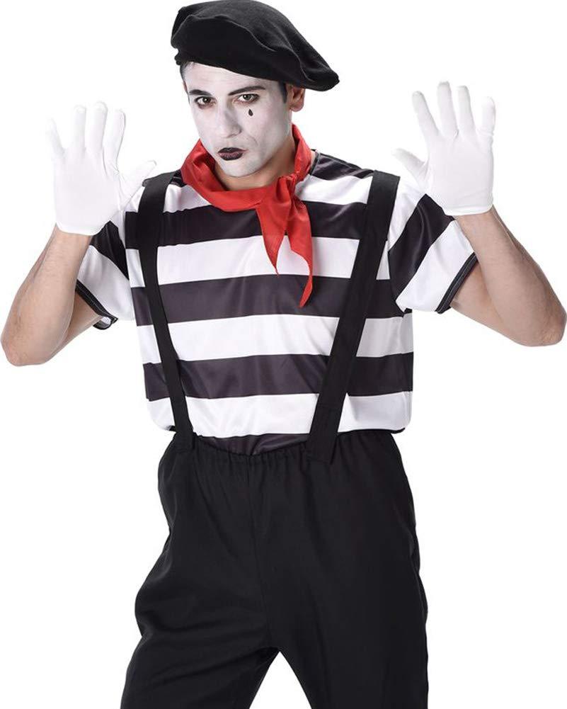 Mime Artist Mens Fancy Dress French Circus Carnival Fun Adult Costume Outfit B01HHQ1AH6 Kostüme für Erwachsene Glücklicher Startpunkt | Haltbarkeit