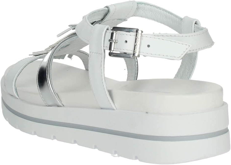 Nero Giardini P908211D//707 Sandali Scarpe Donna Fibbia Cinturino Platform Bianco