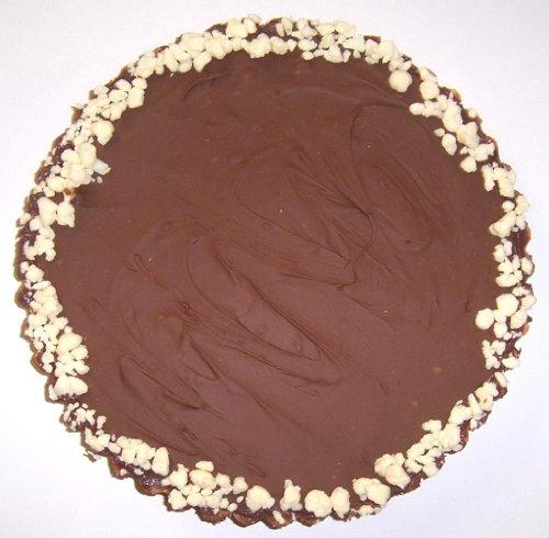 Scott's Cakes Chocolate Delicious Georgia Pecan Fudge Tart with Lemon Filling and Milk Chocolate Topping
