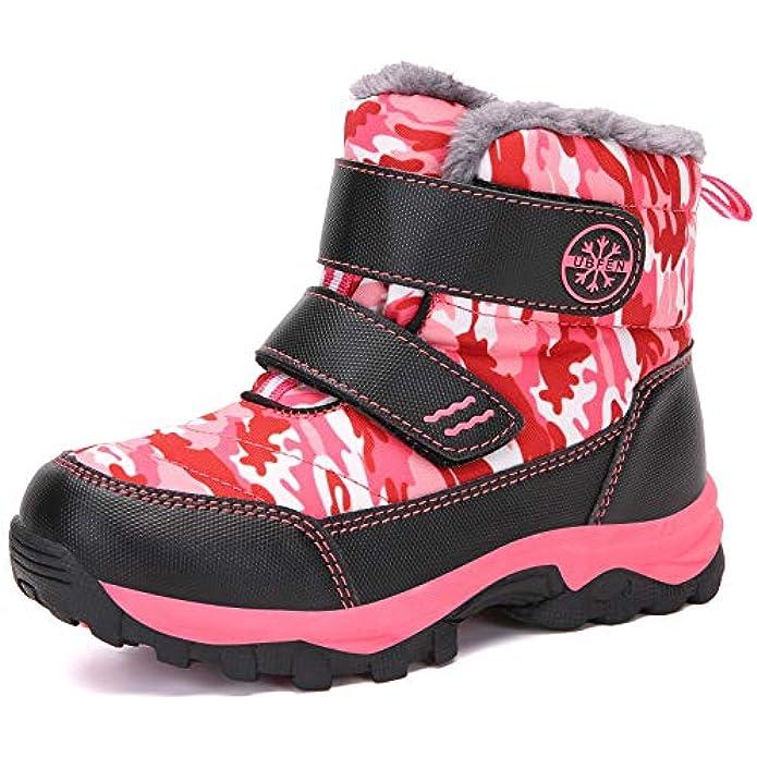 UBFEN Kids Snow Boots Boys Girls Winter Warm Waterproof Outdoor Slip Resistant Cold Weather Unisex Shoes (Toddler/Little Kid/Big Kid)